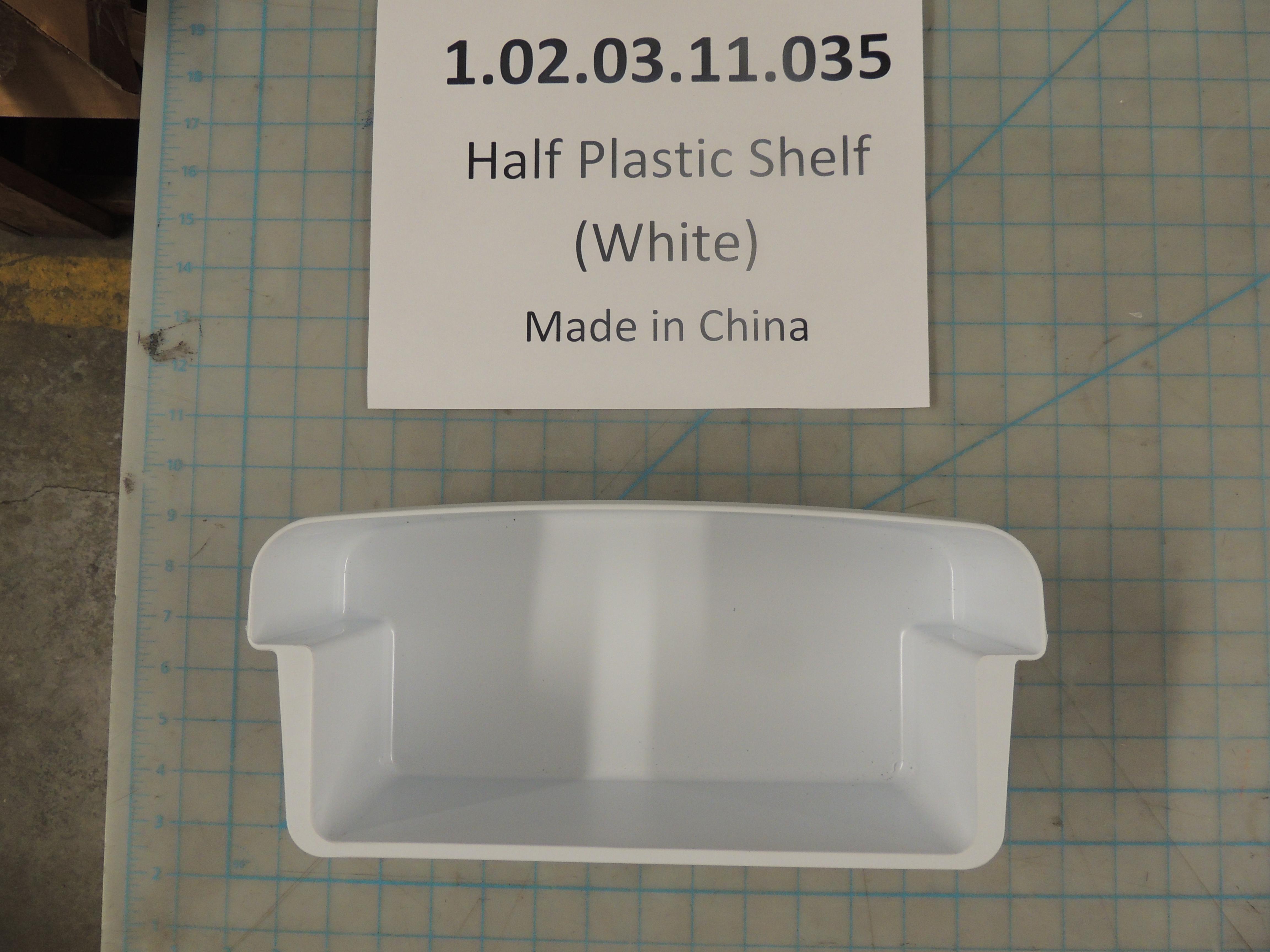 Half Plastic Shelf (White)
