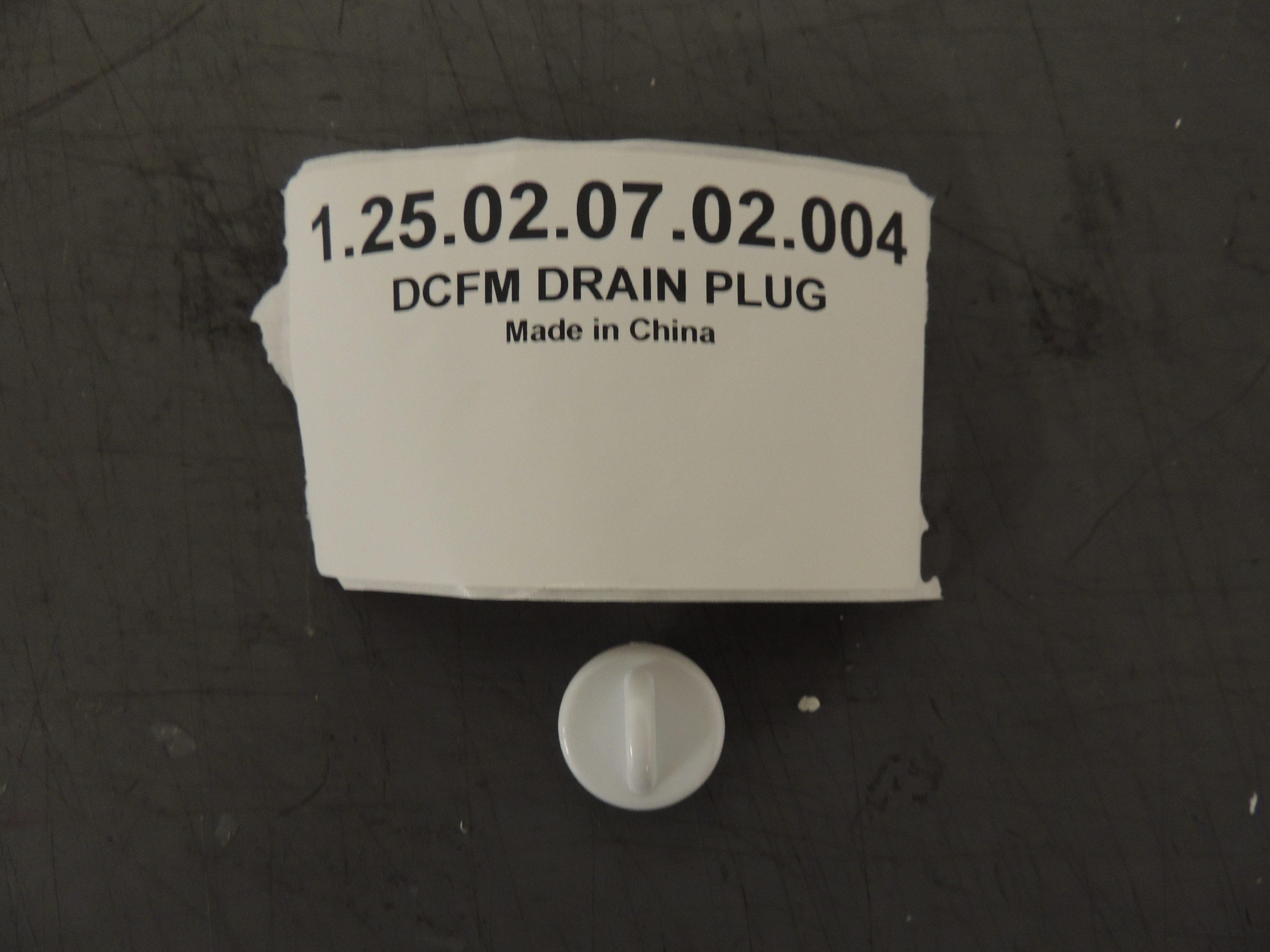 DCFM DRAIN PLUG