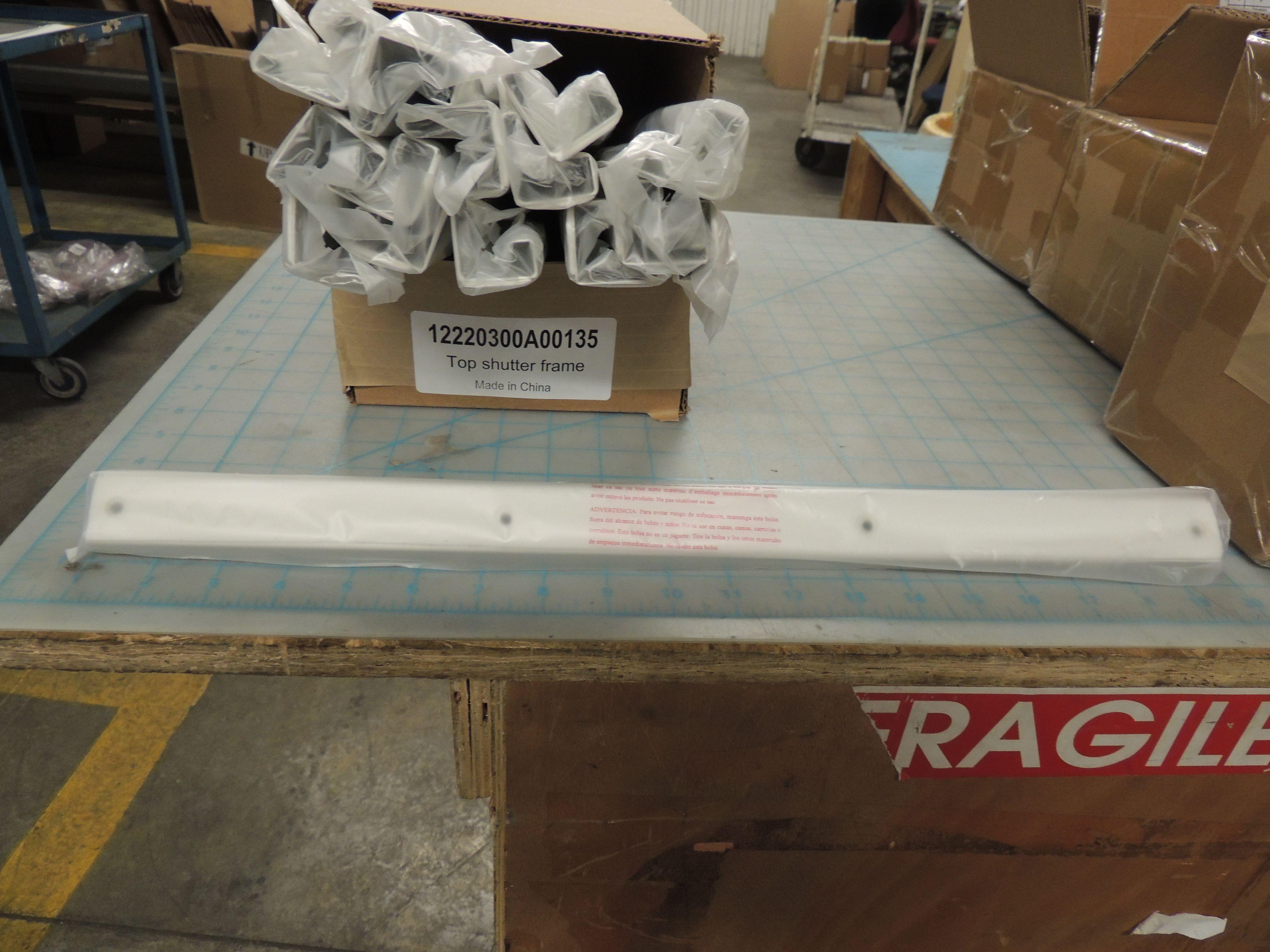 Upper Shutter Frame Assembly