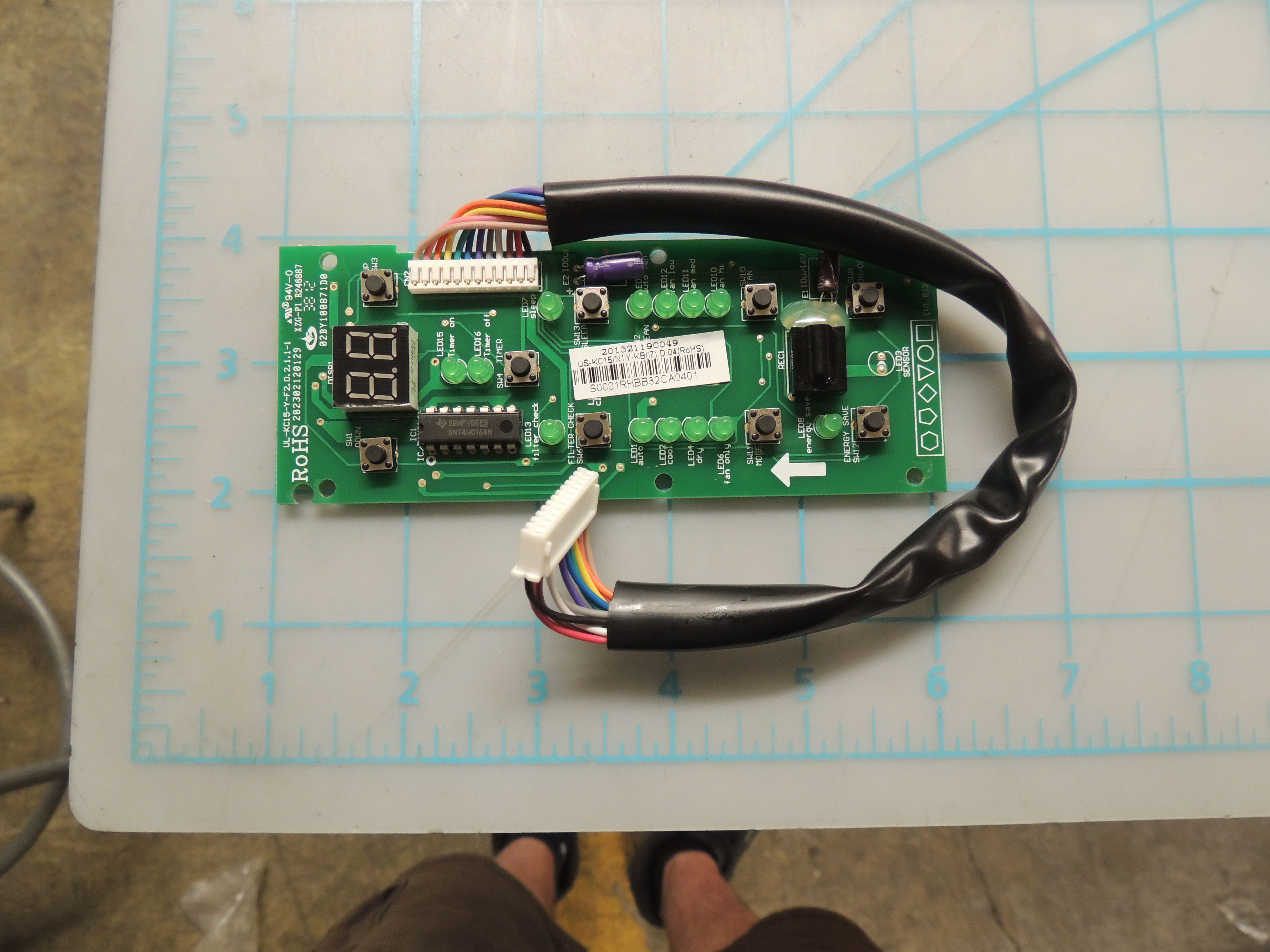 DAC Display board assembly