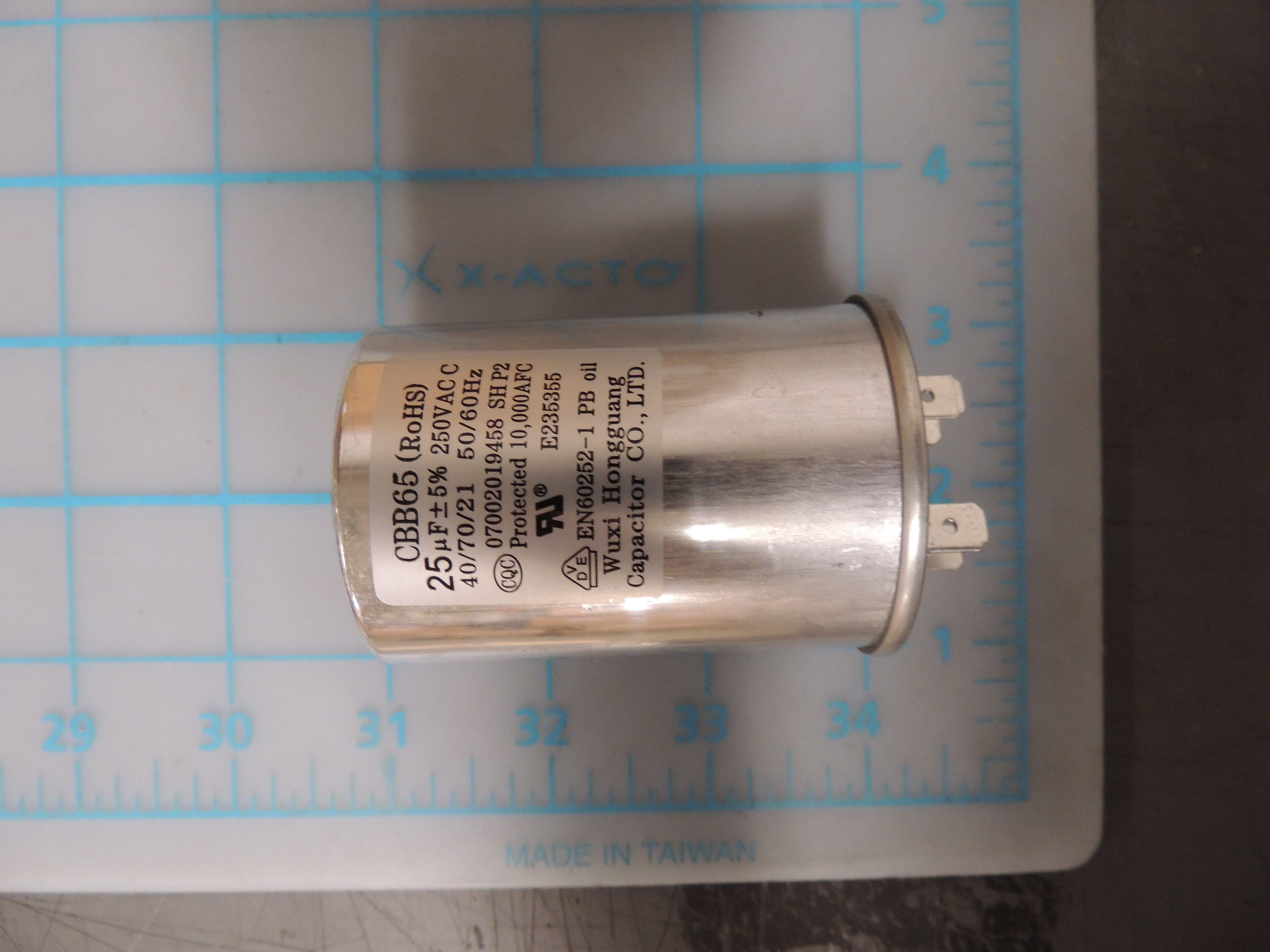 Capacitor of compressor