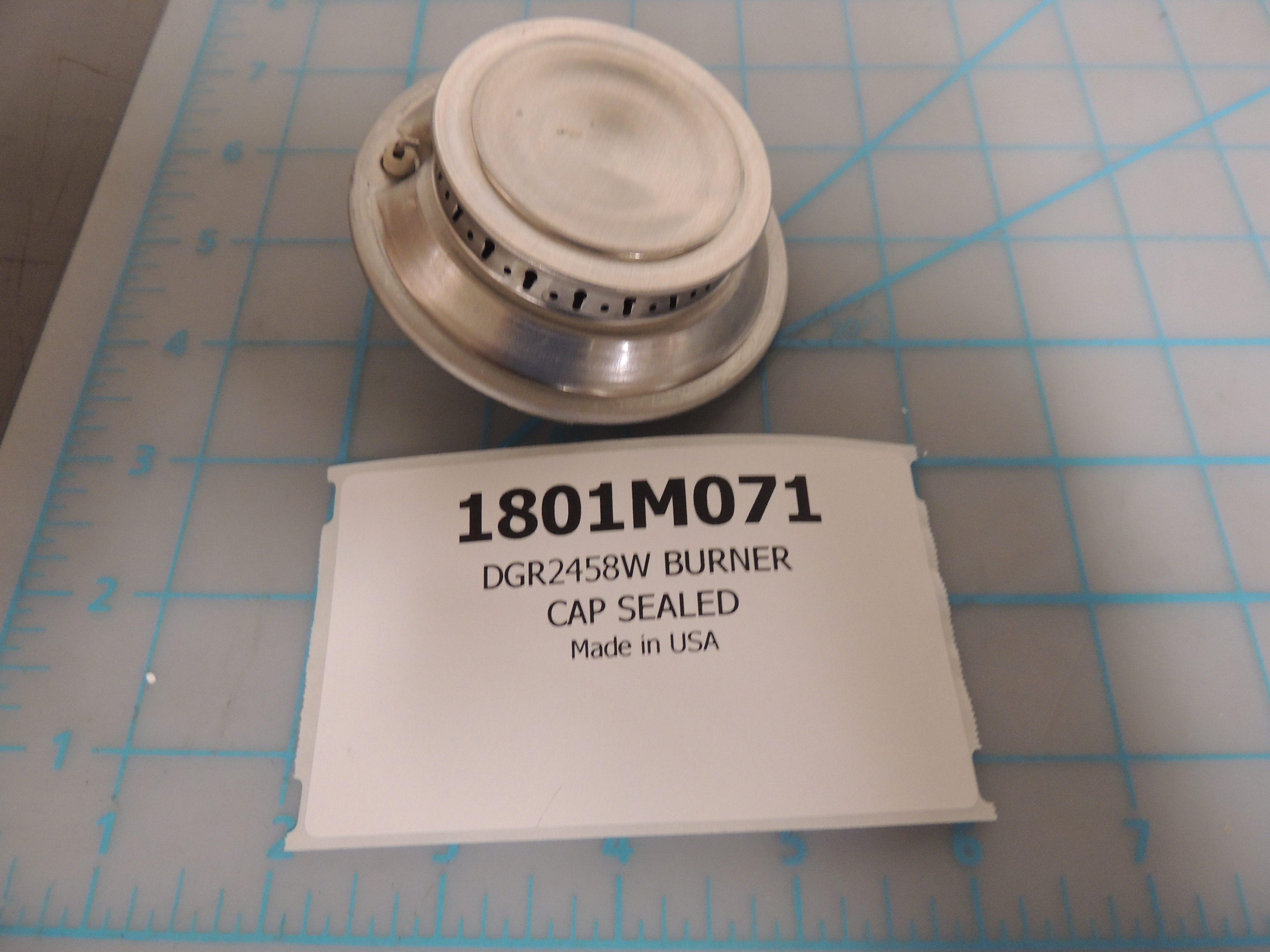 DGR2458W BURNER CAP SEALED