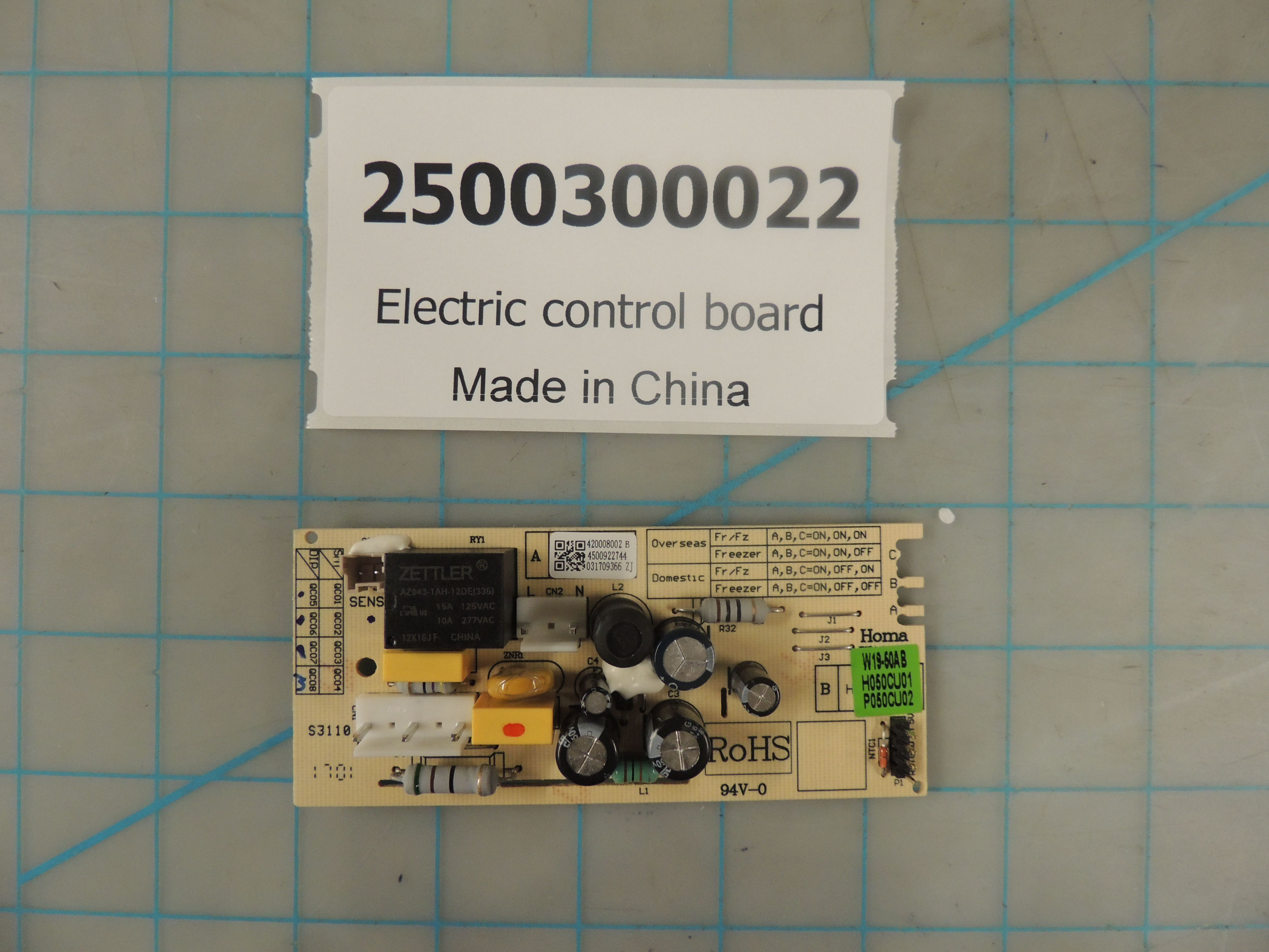 Electric control board