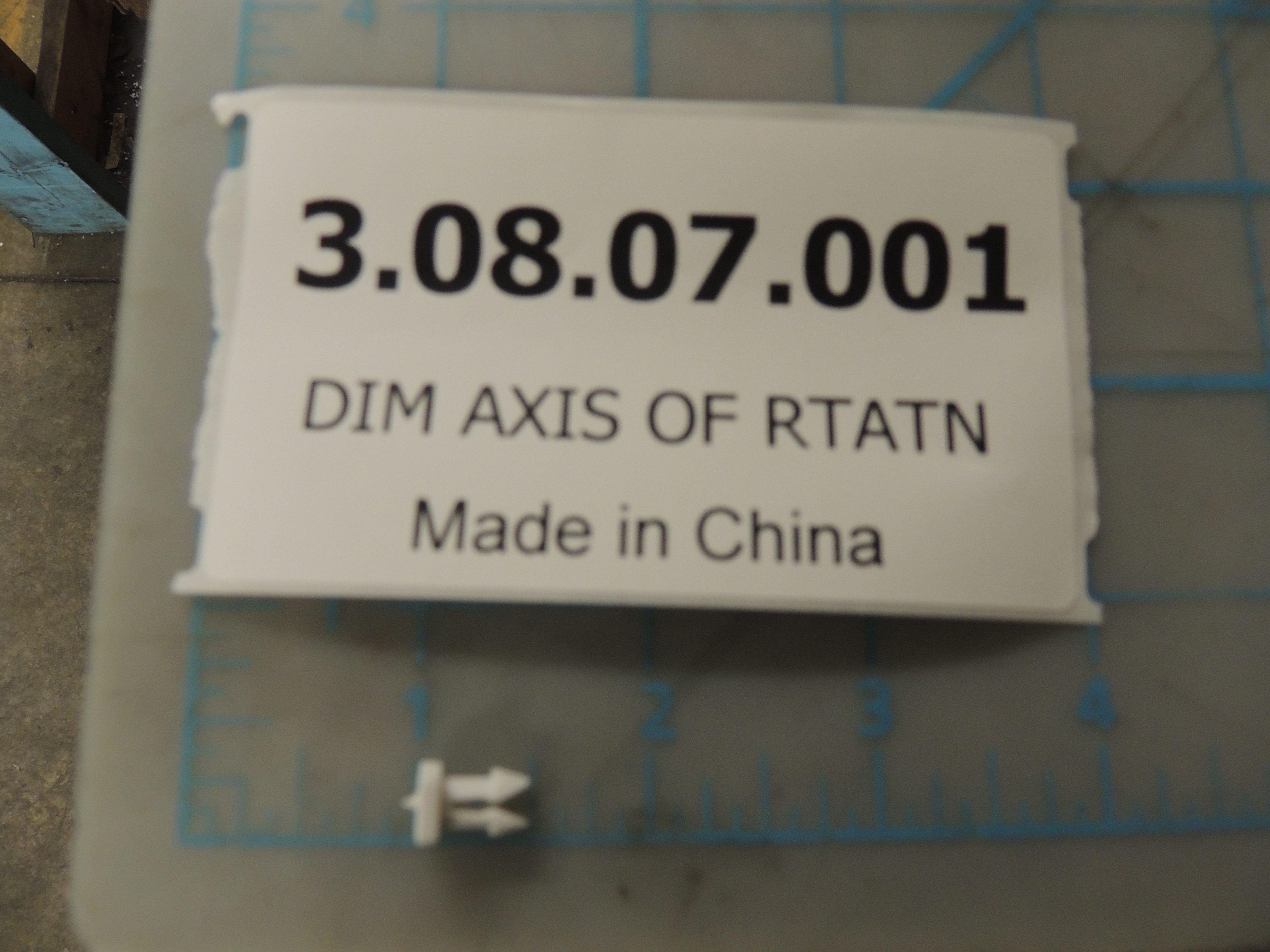 DIM AXIS OF RTATN