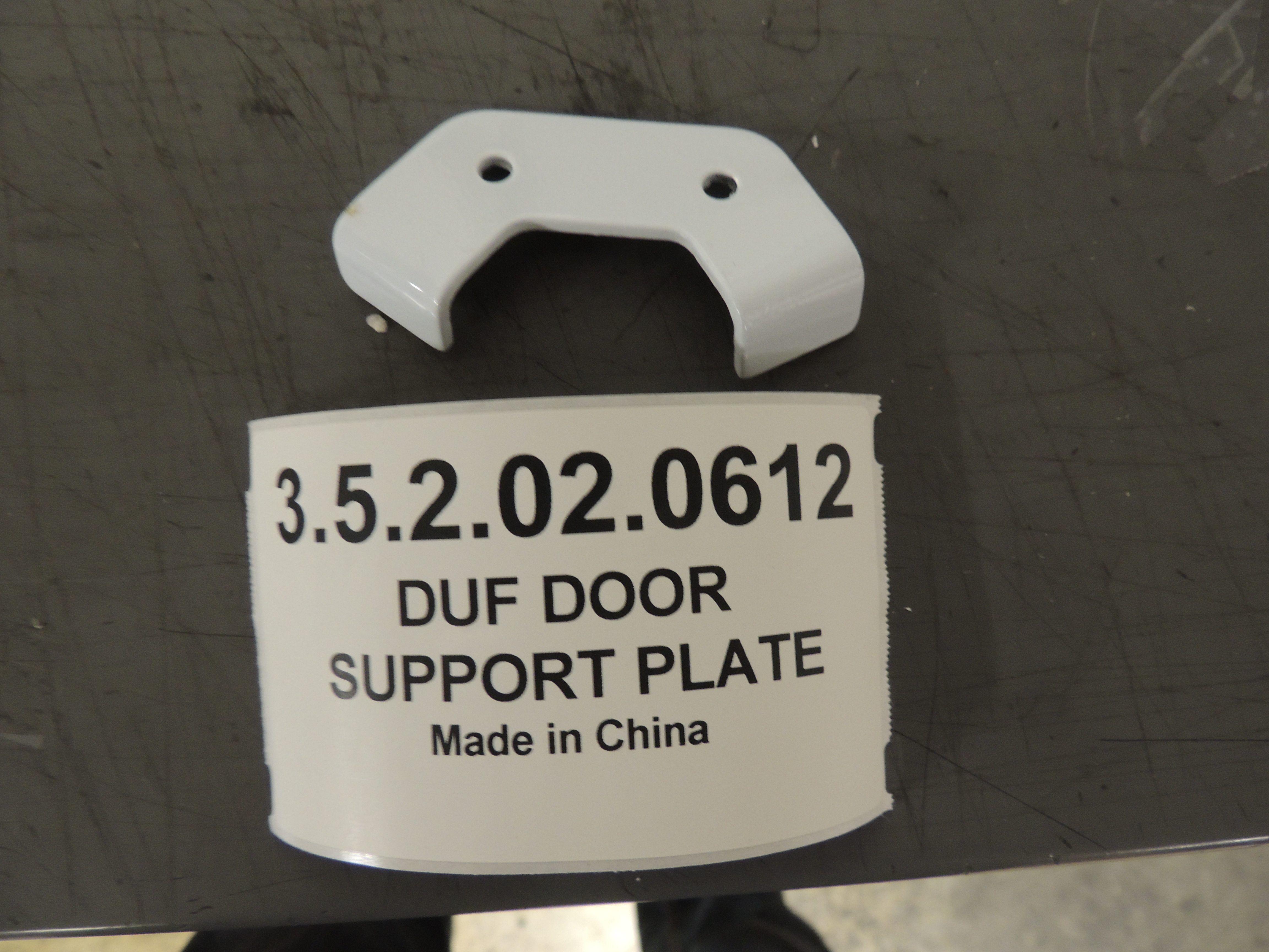 DUF DOOR SUPPORT PLATE