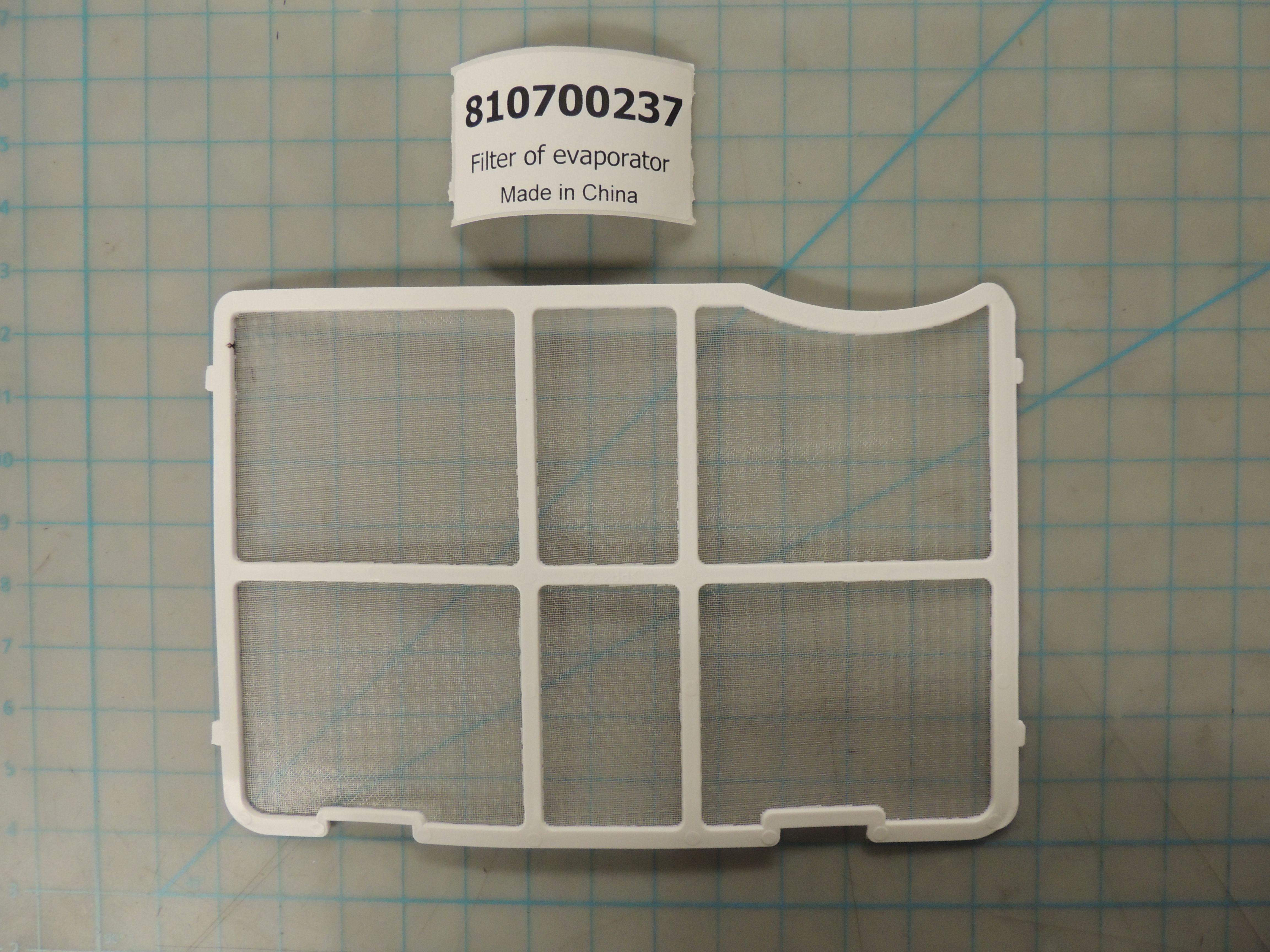 Filter of evaporator