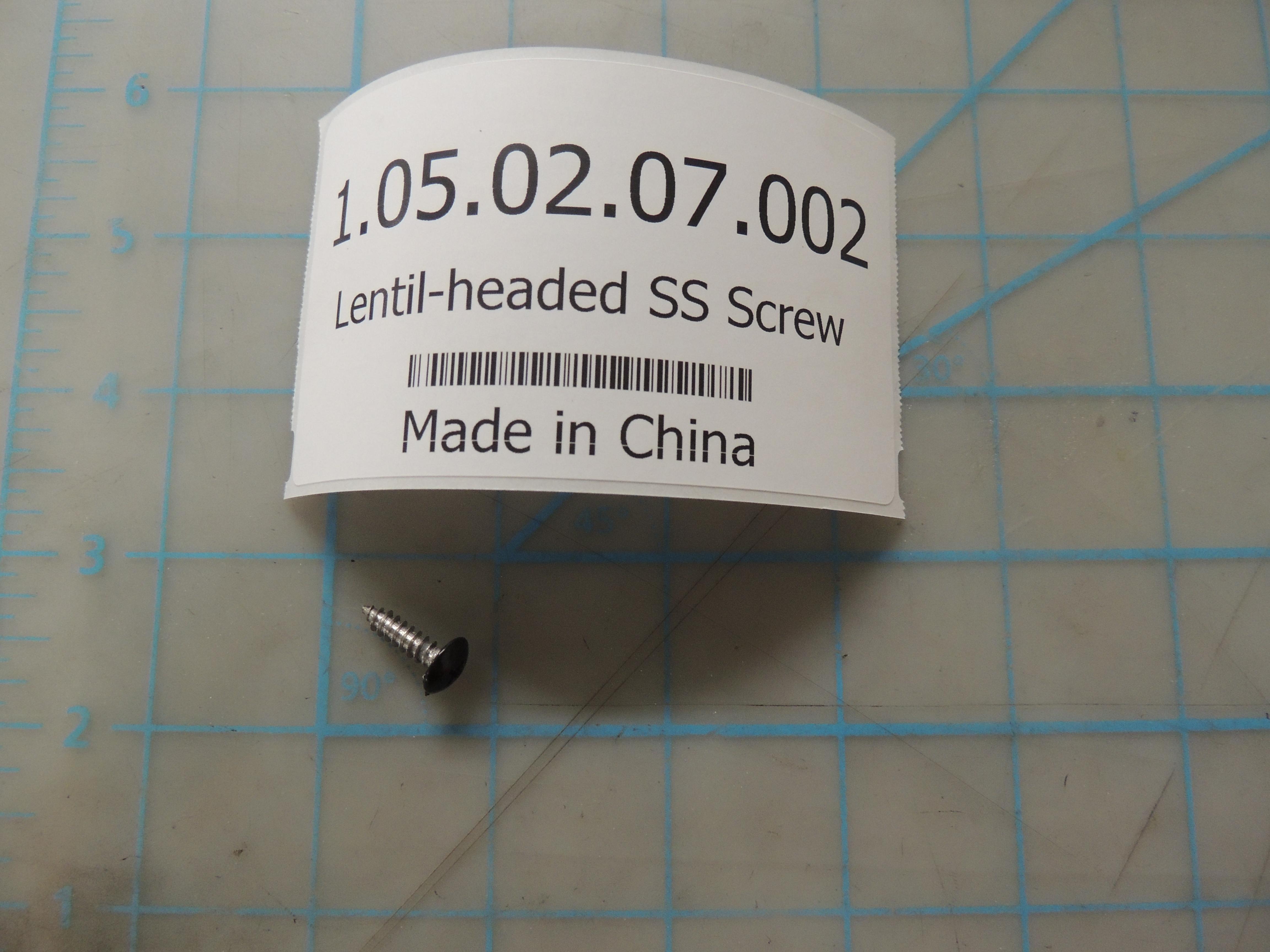Lentil-headed SS Screw