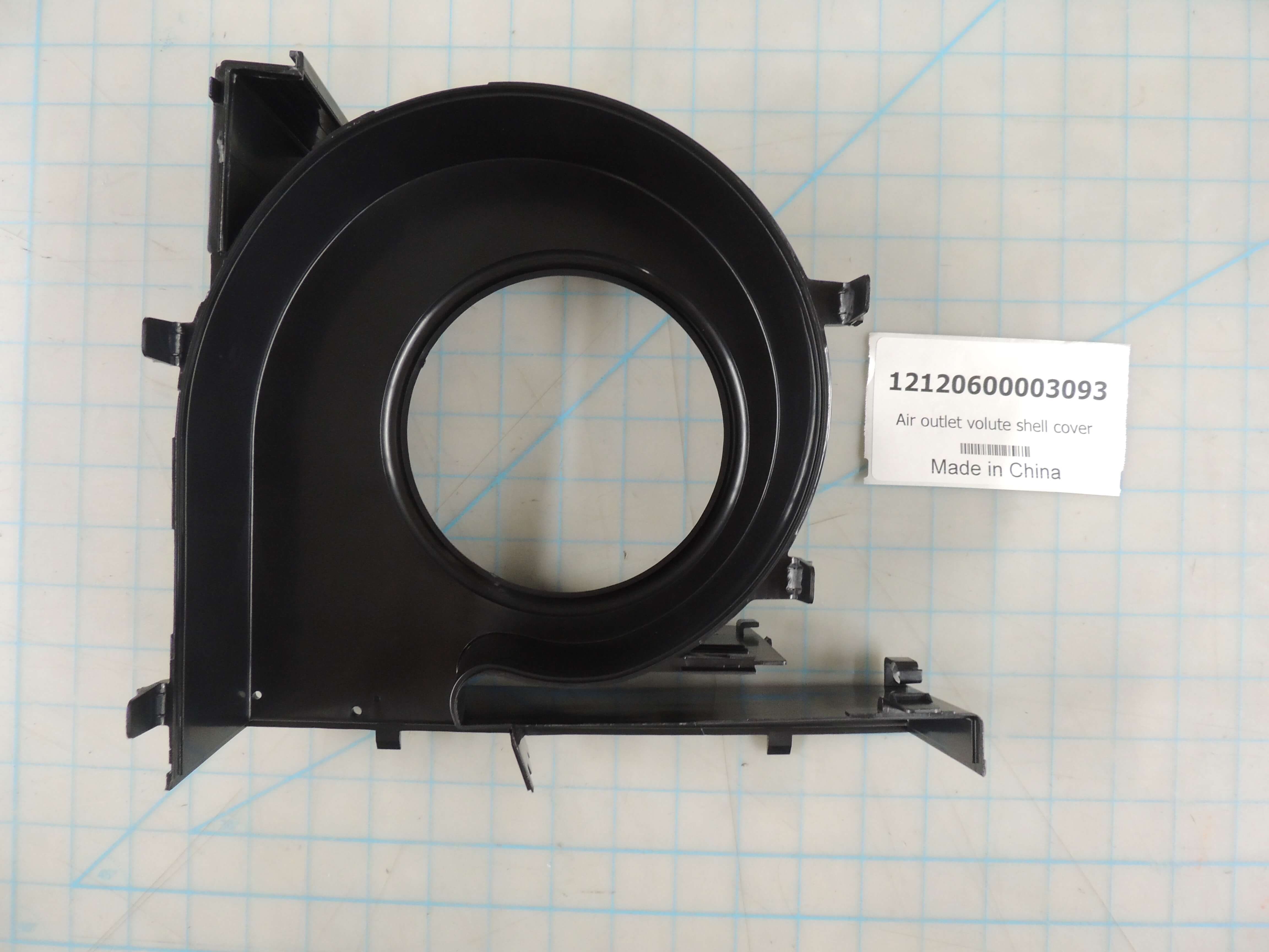 Air outlet volute shell cover