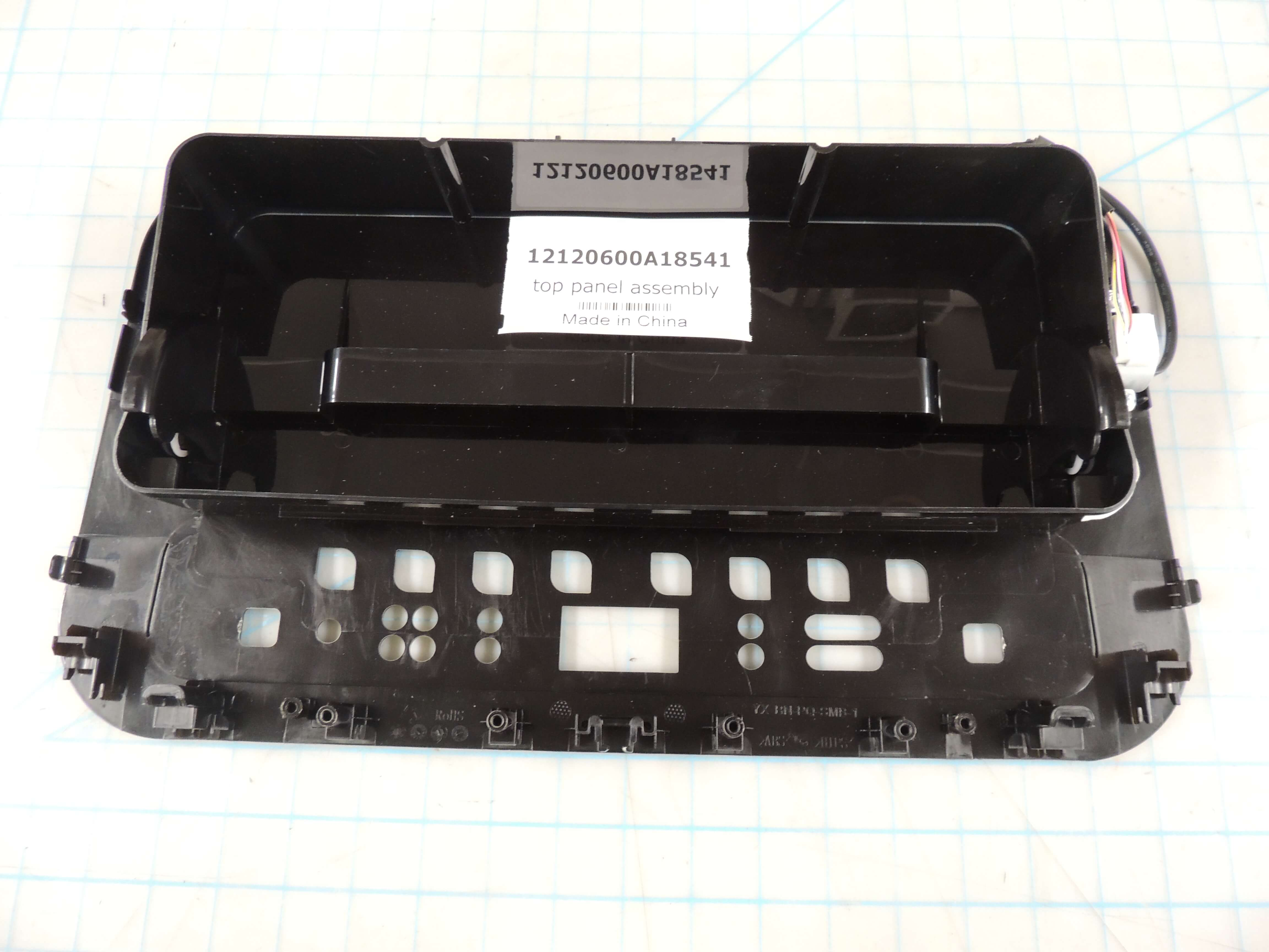 top panel assembly