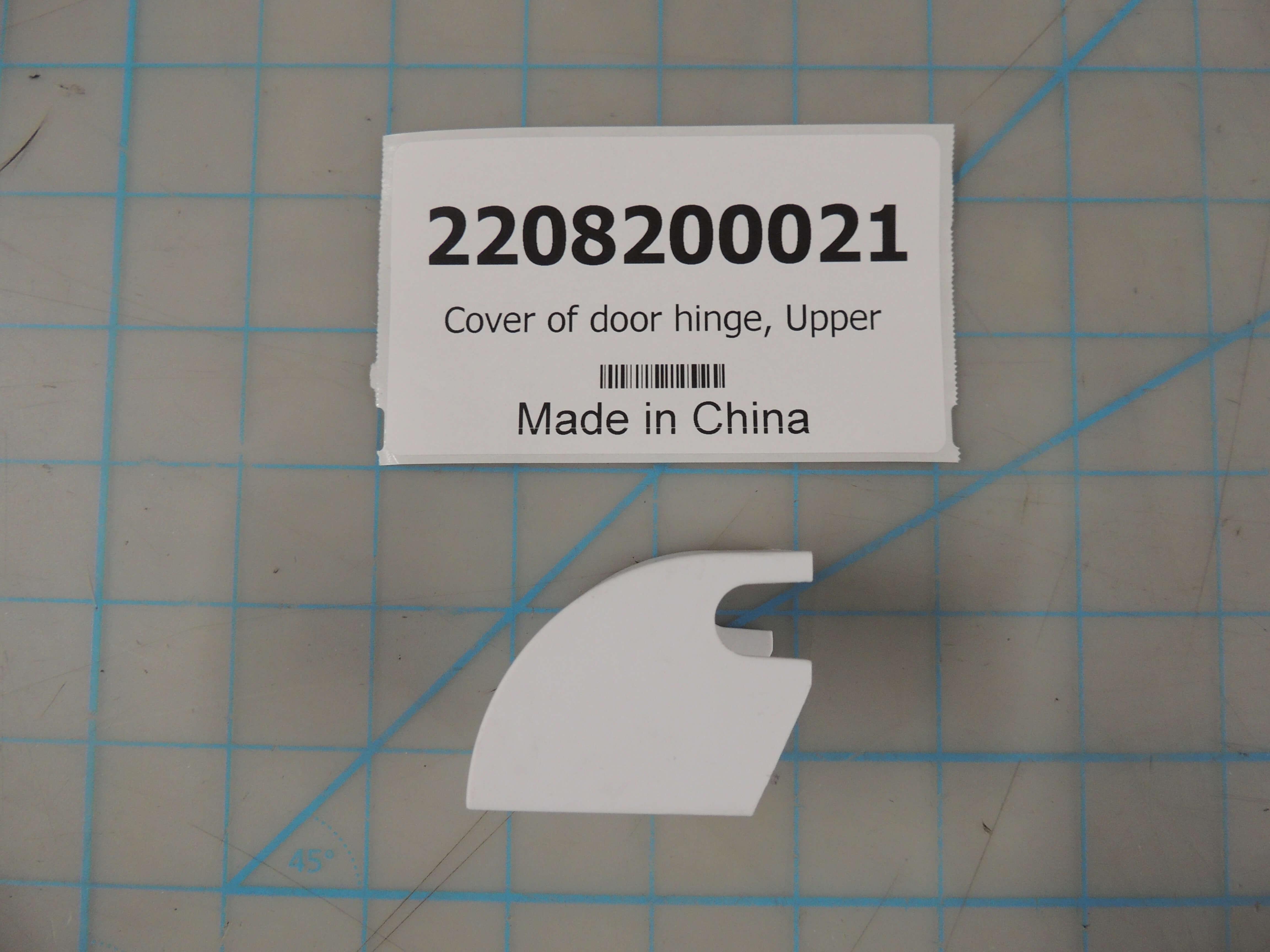 Cover of door hinge, Upper